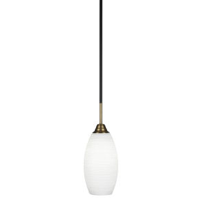 Paramount Matte Black Six-Inch One-Light Mini Pendant with White Matrix Shade