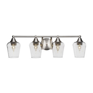 Paramount Brushed Nickel Four-Light Bath Vanity