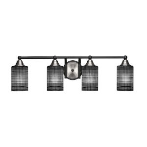 Paramount Matte Black and Brushed Nickel 29-Inch Four-Light Bath Vanity