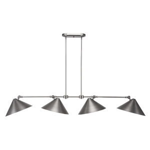 Tangent Brushed Nickel 62-Inch Four-Light LED Island Chandelier