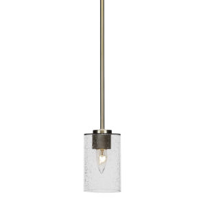 Atlas New Age Brass Four-Inch One-Light Mini Pendant