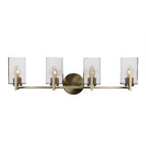Atlas New Age Brass 29-Inch Four-Light Bath Vanity