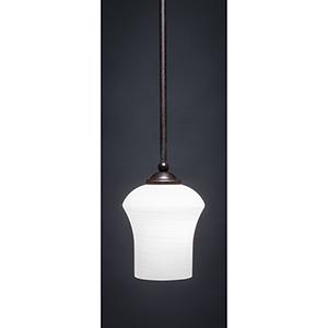 Zilo Dark Granite 12-Inch One-Light Pendant with Zilo White Linen Glass