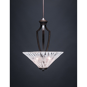 Zilo Dark Granite 16-Inch Three-Light Pendant