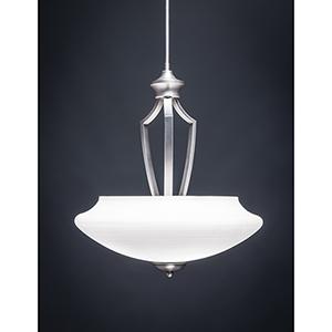Zilo Graphite 18-Inch Three-Light Pendant