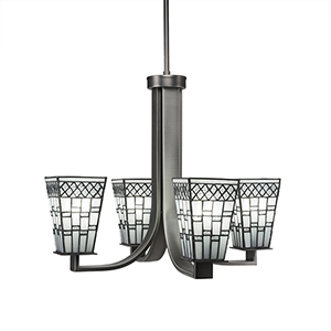 Apollo Graphite 21-Inch Four-Light Chandelier