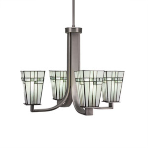 Apollo Graphite Four-Light Chandelier