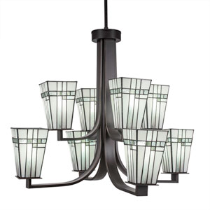 Apollo Dark Granite Eight-Light Chandelier