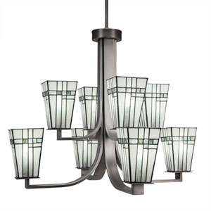 Apollo Graphite Eight-Light Chandelier