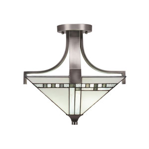 Apollo Graphite Two-Light Semi Flush
