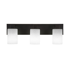 Apollo Dark Granite 23-Inch Three-Light Bath Vanity with White Muslin Glass