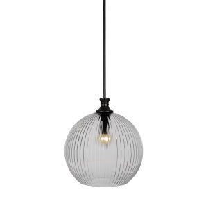Carina Matte Black One-Light 14-Inch Stem Hung Pendant