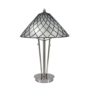 Any Brushed Nickel 16-Inch Two-Light Table Lamp
