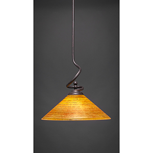 Capri Dark Granite 16-Inch One-Light Pendant