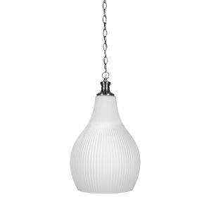 Carina Brushed Nickel 12-Inch One-Light Pendant with Opal Frosted Glass Shade