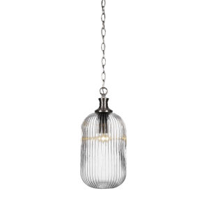 Carina Brushed Nickel One-Light 8-Inch Chain Hung Mini Pendant
