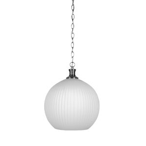 Carina Brushed Nickel 13-Inch One-Light Pendant with Opal Frosted Glass Shade