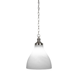 Juno Brushed Nickel One-Light 12-Inch Chain Hung Pendant