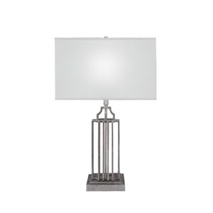 Sky Loft Aged Silver One-Light 8-Inch Table Lamp