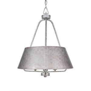 Sonora Aged Silver Three-Light 20-Inch Pendant