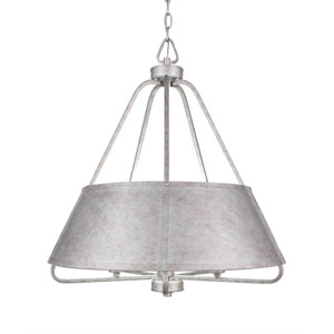 Sonora Aged Silver Five-Light 23-Inch Pendant