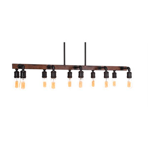 Portland Oil Rubbed Bronze LED 10-Light Island Pendant with
