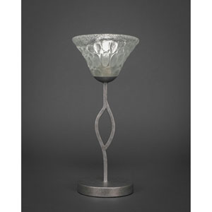 Revo Aged Silver One-Light Mini Table Lamp with Italian Bubble Glass
