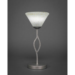 Revo Aged Silver One-Light Mini Table Lamp with Gold Ice Glass