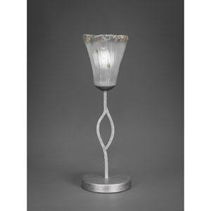 Revo Dark Granite One-Light Table Lamp with Frosted Crystal Glass