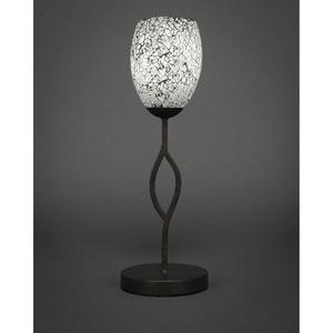 Revo Dark Granite One-Light Mini Table Lamp with Black Fusion Glass