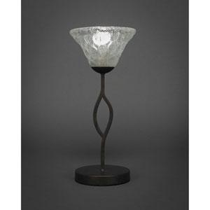 Revo Dark Granite One-Light Mini Table Lamp with Italian Bubble Glass