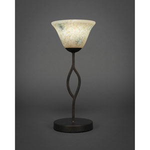 Revo Dark Granite One-Light Mini Table Lamp with Italian Marble Glass