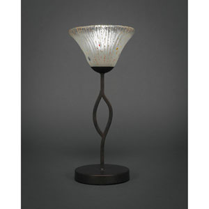 Revo Dark Granite One-Light Mini Table Lamp with Frosted Glass