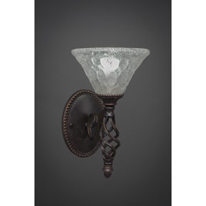 Elegante One-Light Wall Sconce - Dark Granite Finish with 7 Inch Italian Glass