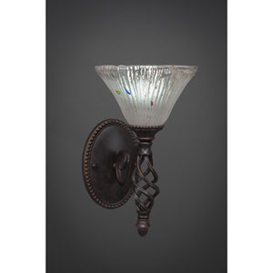 Elegante One-Light Wall Sconce - Dark Granite Finish with 7 Inch Frosted Crystal Glass