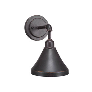 Vintage Dark Granite One-Light 7-Inch Wall Sconce with 7-Inch Dark Granite Metal Shade