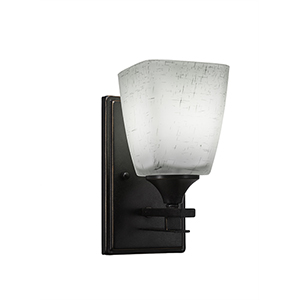 Uptowne Dark Granite One-Light Wall Sconce with Clear Bubble Glass