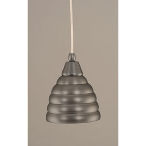 Brushed Nickel Mini Pendant with 6-Inch Beehive Metal Shade