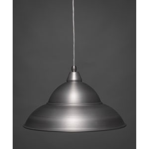Brushed Nickel 16-Inch One Light Mini Pendant with Brushed Nickel Cone Metal Shade