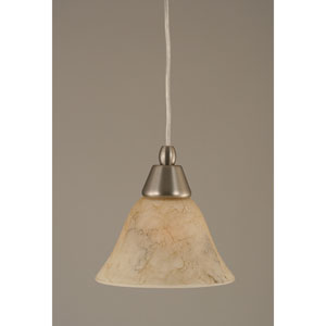 Brushed Nickel Mini Pendant with 7-Inch Italian Marble Glass