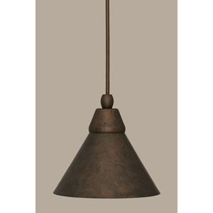 Bronze 7-Inch One Light Mini Pendant with Bronze Cone Metal Shade