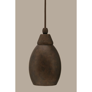 Bronze 5-Inch One Light Mini Pendant with Bronze Cone Metal Shade