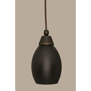 Dark Granite 5-Inch One Light Mini Pendant with Dark Granite Cone Metal Shade