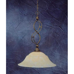 Jazz Bronze One-Light Pendant with Amber Marble Glass