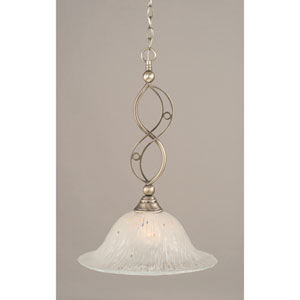 Jazz Brushed Nickel One-Light Pendant with Frosted Crystal Glass