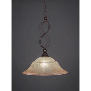 Jazz Bronze One-Light Pendant with Italian Marble Glass