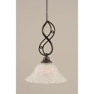 Jazz Black Copper One-Light Mini Pendant with 10-Inch Italian Bubble Glass Shade