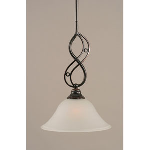 Jazz Black Copper One-Light Mini Pendant with 10-Inch Dew Drop Glass Shade