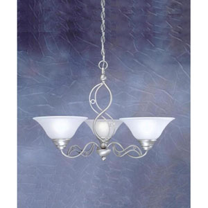 Jazz Brushed Nickel Three-Light Chandelier with Dew Drop Glass