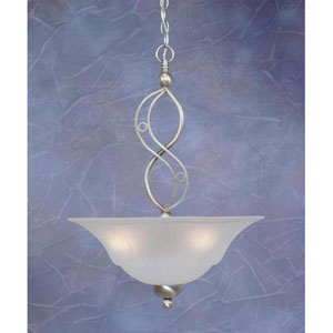 Jazz Brushed Nickel Three-Light Pendant with Dew Drop Glass